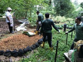 植物園のガーデナーの仕事も視察