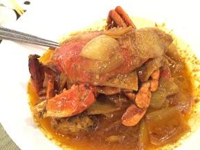 蟹のカレー史の煮込み
