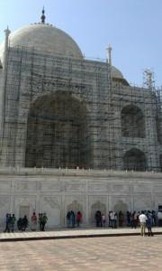 タージマハル背面工事