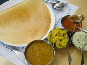 南インド料理の朝食
