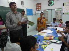インド学校授業の見学