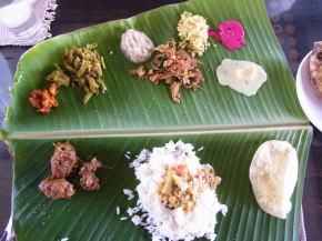 ケララの南インド料理