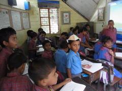 インドNGO学校の授業見学