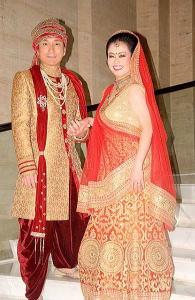 インド民族衣装で撮影