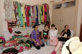 インド衣装でコスプレ