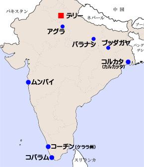インド周遊マップ