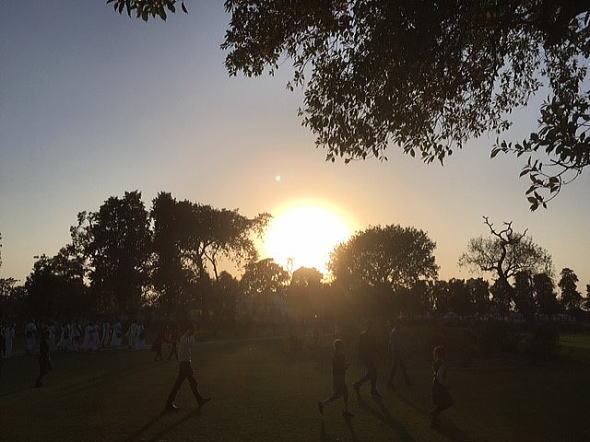 クシナガルの夕陽