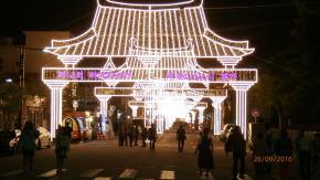 百済文化祭のライトアップ