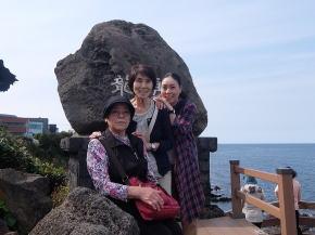 お母様と親孝行旅行 韓国済州