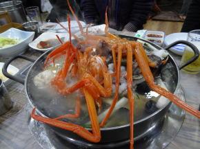 江陵の海鮮鍋