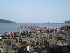 珍島の海割れ