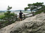 落花岩から白馬江を望む