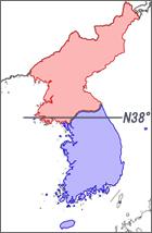北緯38度線と軍事境界線