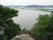 扶余 扶蘇山城より眺める白馬江
