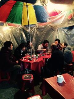 韓国グルメ旅行。ホジャンマチャ屋台