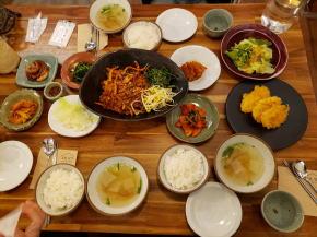 自家製野菜がたくさんの夕食