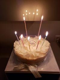 勤続25周年記念ケーキ