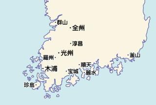 韓国全羅道 略図