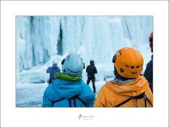 韓国の氷瀑に驚き