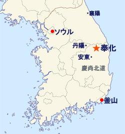 松茸の産地 慶尚北道 奉化