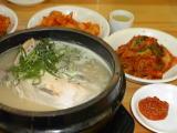 参鶏湯の昼食