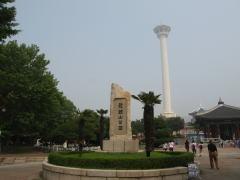 プサンタワーと龍頭山公園