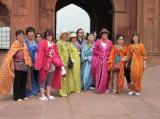 インド旅行 サリーを着て