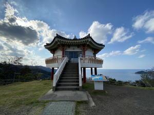 対馬の韓国展望所