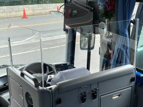 観光バスの飛沫対策