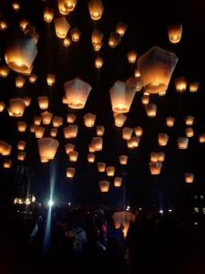 平渓天燈祭2015