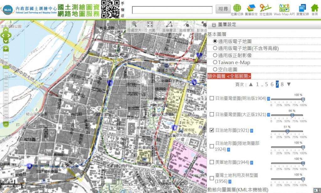 日本統治時代の台北地図
