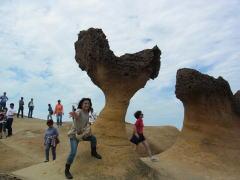 台湾旅行 野柳の奇岩