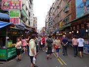 台湾旅行 淡水の街並み
