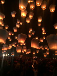 平渓天燈祭打ち上げ