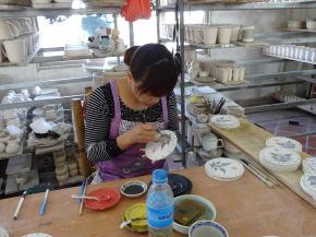 バチャン村の陶芸工房